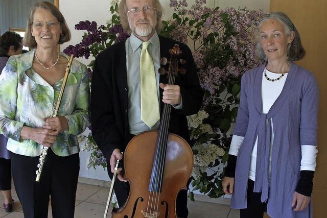 Trio mit Martin Angell, Angelika Graubner und Ursula Wäschle-Weiger in Dachsberg