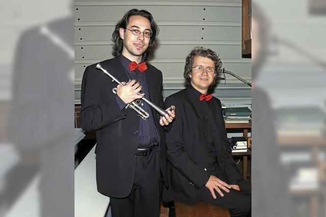 Duo Frank Zimpel (Orgel) und Alexander Pfeifer (Trompete) mit