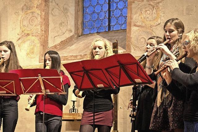 Schüler der Städtischen Musikschule in Müllheim