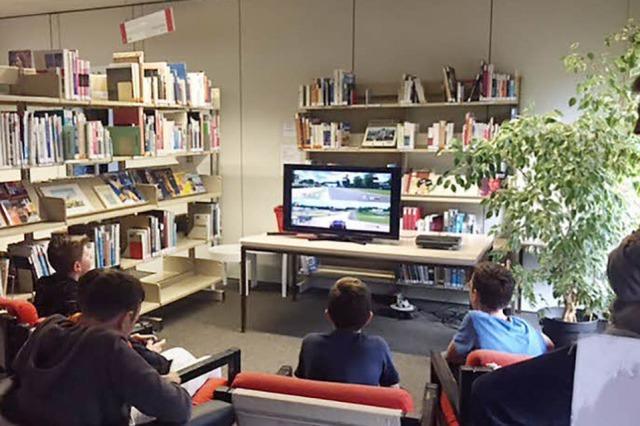 In Haslach können Jugendliche Konsolenspiele gemeinsam testen
