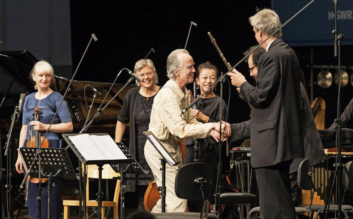Komponist Peter Ablinger und das ensemble recherche  | Foto: swr (Brunner)