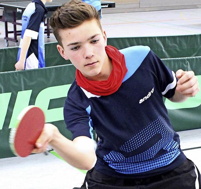 Theo Föhrenbach vom TTC Löffingen zählt zu den besten U 15-Spielern in Südbaden.  | Foto: maier