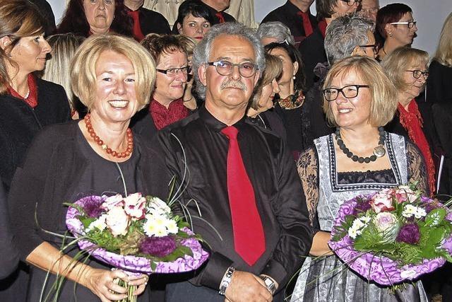 Sängerbund ehrt Dagmar Budde, Ira Sattler und Gerhard Tröndle