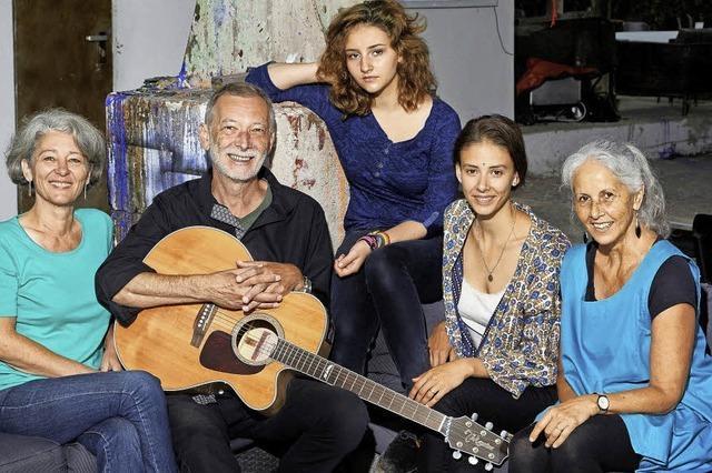 Walti Huber mit Jetsam.5 und Céline Huber im Lörracher Nellie Nashorn