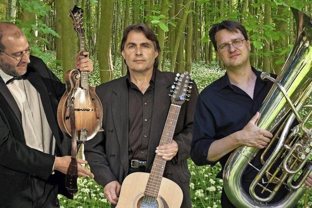 Musiker spielen mit Räumen