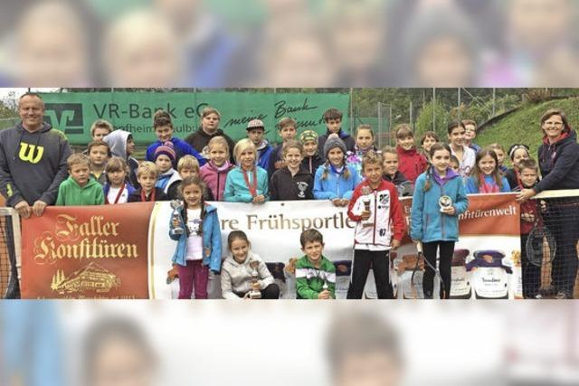 Nur Gewinner beim Jugend-Tennisturnier