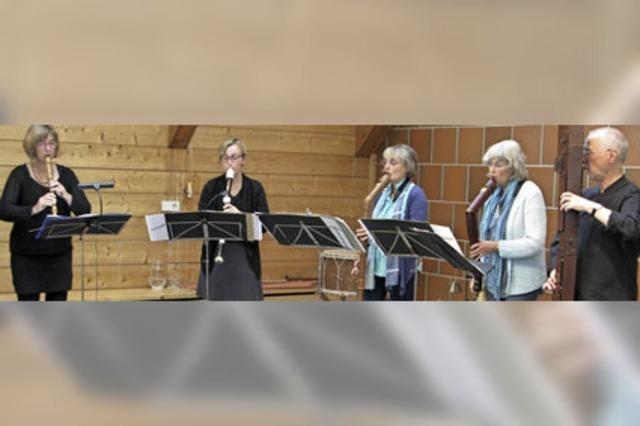 Beeindruckende Flötenmusik und schöner Gesang