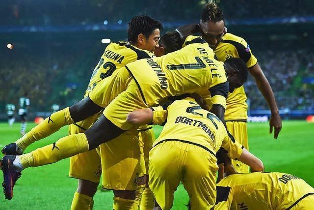 Dortmund gewinnt bei Sporting Lissabon mit 2:1