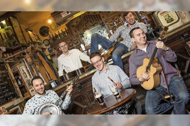 Mit der Band The Rapparees in Waldshut-Tiengen