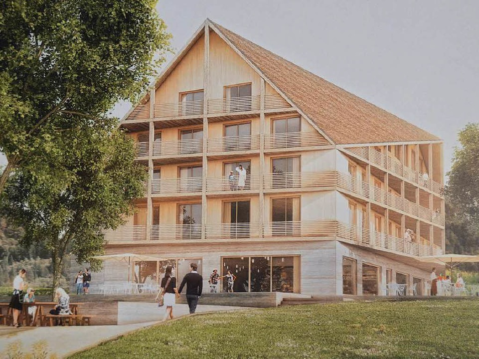 Der Entwurf des Büros Sacker Architekten, Freiburg  | Foto: Andrea Gallien