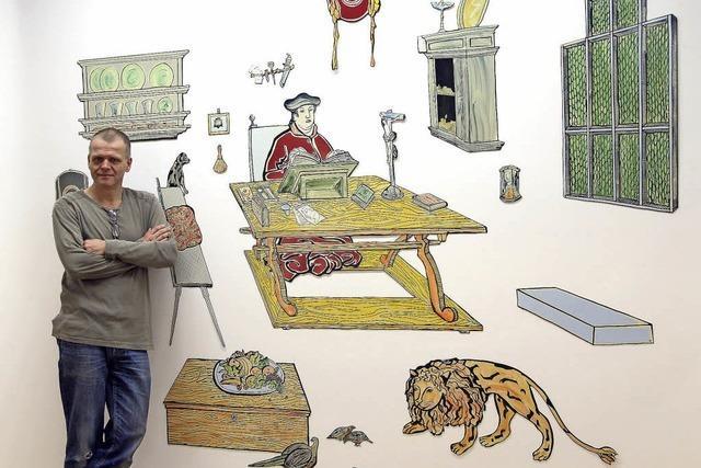 Moritz Götze zeigt in Offenburg seinen leichthändigen Umgang mit deutscher Ikonographie