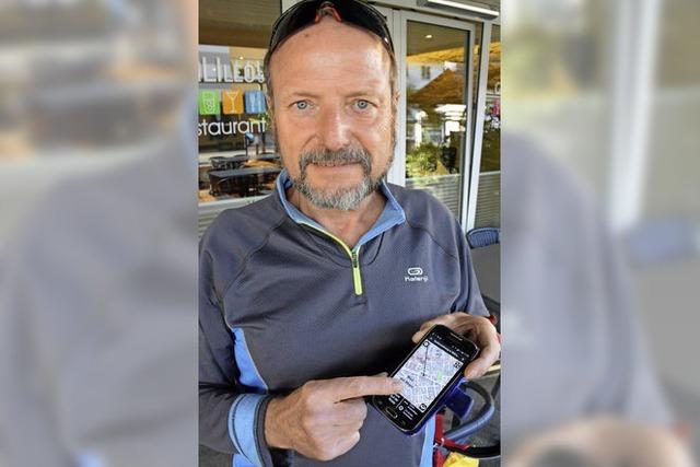 Stuhlwanderung mit dem Smartphone