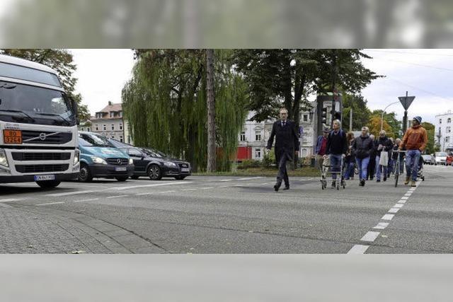 Quartier im Verkehrstest: Für Fußgänger ist's im Stadtteil Wiehre oft unübersichtlich
