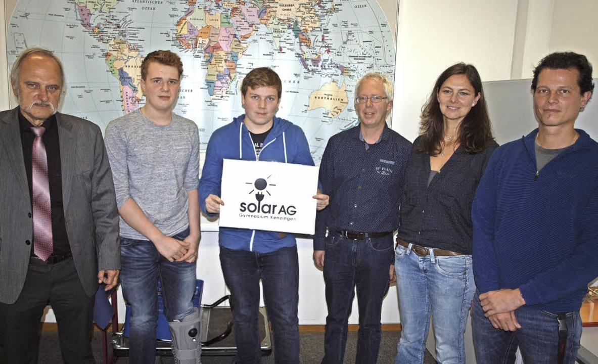 Gründer und Studienrat der Solar-AG de...ffer und Julian Frank bleiben dabei.    | Foto: Michael Haberer