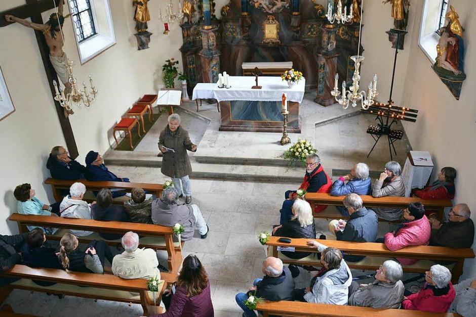BZ-Leser in der Giersbergkapelle in Kirchzarten (Foto: Jonas Hirt)