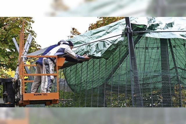 Planen und Netze sollen Tiere schützen