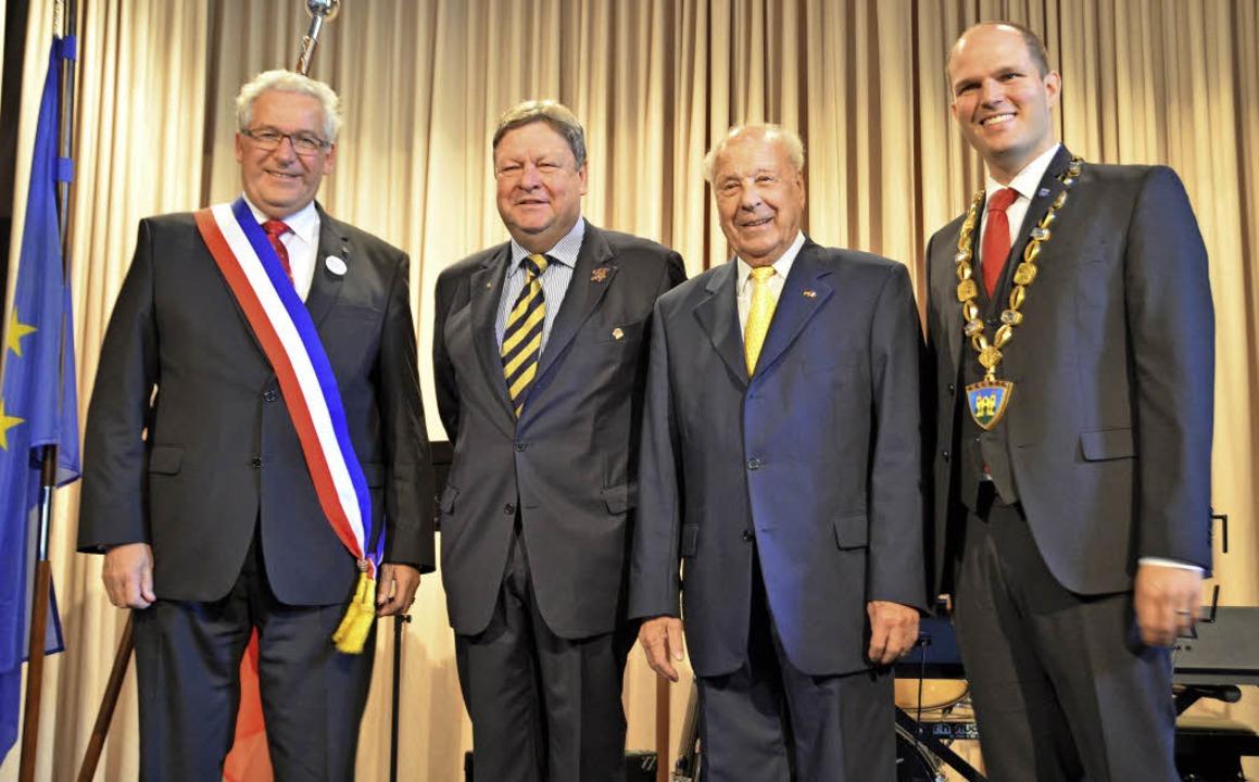 Marcel Bauer, Richard Leibinger, Hugo ...von Maurice Kuebler und Ernst Prestel.  | Foto: Sylvia Sredniawa