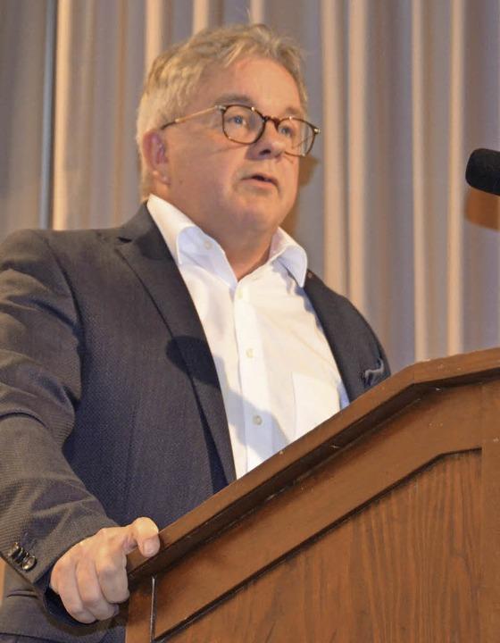 Justiz- und Europaminister Guido Wolf ... den Festvortrag beim Städtejubiläum.   | Foto: Fotos: Sredniawa
