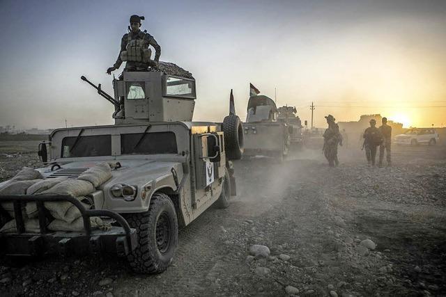 Irakische Soldaten rücken immer weiter nach Mossul vor
