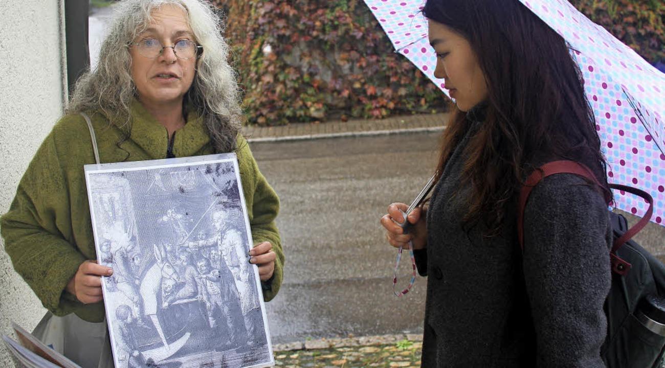 Museumsleiterin Maren Siegmann hatte originelle Dokumente zusammengetragen.  | Foto: SIEMANN