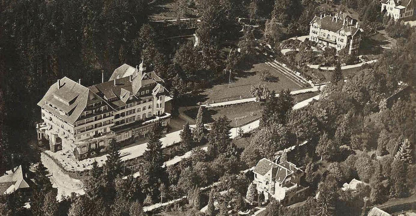 Luftaufnahme des Hotels Waldlust aus besseren Tagen   | Foto: Siegfried Schmidt/Denkmalverein Freudenstadt