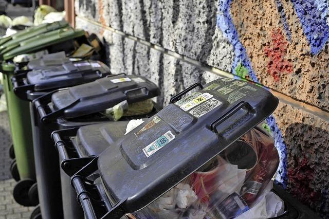 Müllgebühren werden leicht steigen