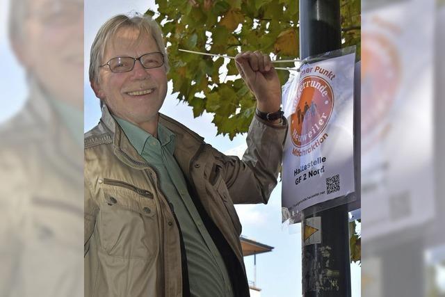 Orangener Punkt in Gundelfingen