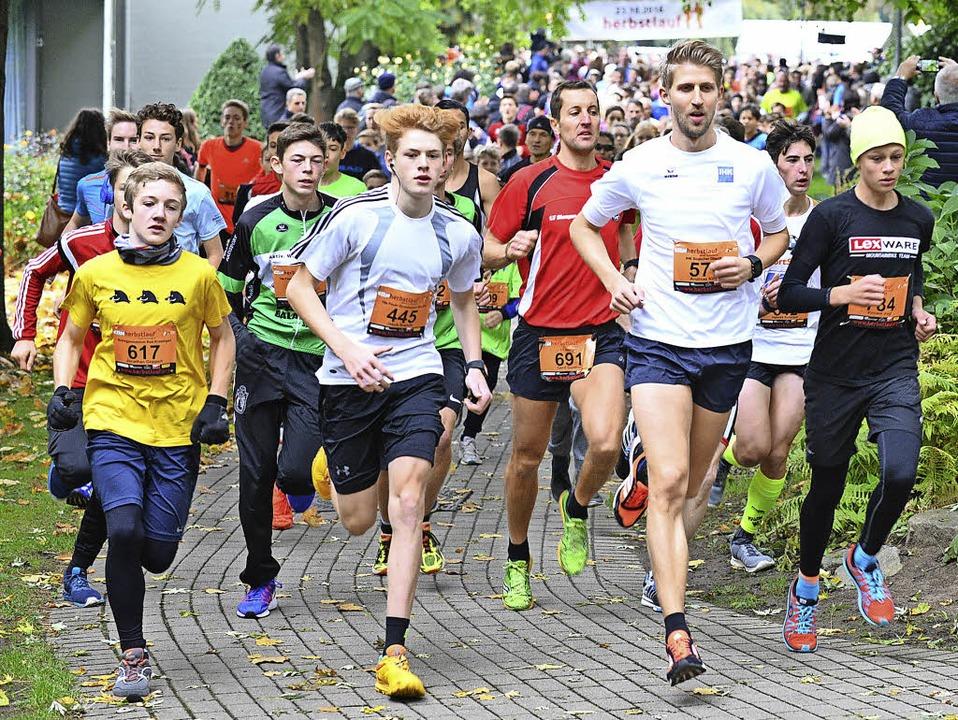 Über fünf Kilometer gingen beim Herbst...rozingen 470 Teilnehmer an den Start.   | Foto: Murst