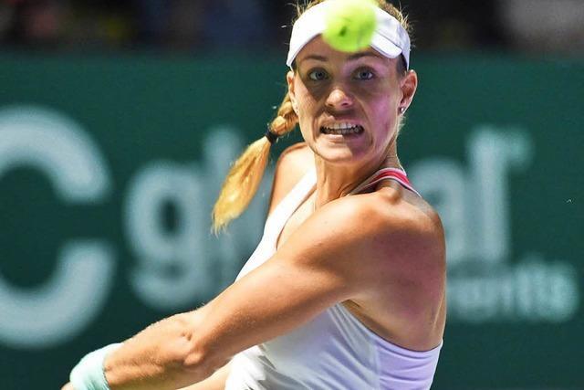Angie Kerbers zweiter Sieg im zweiten Match