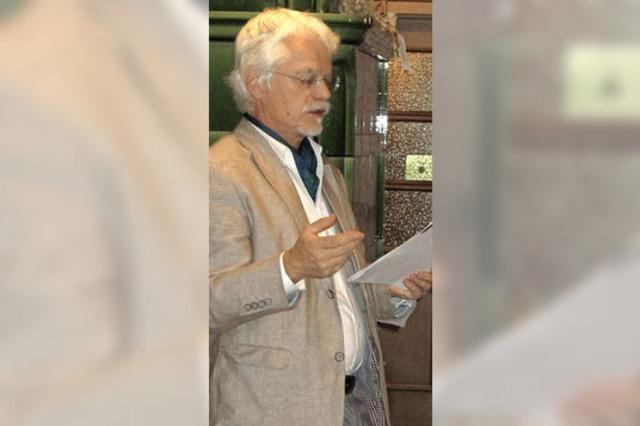 Mundartdichter Markus Manfred Jung liest in Riedern