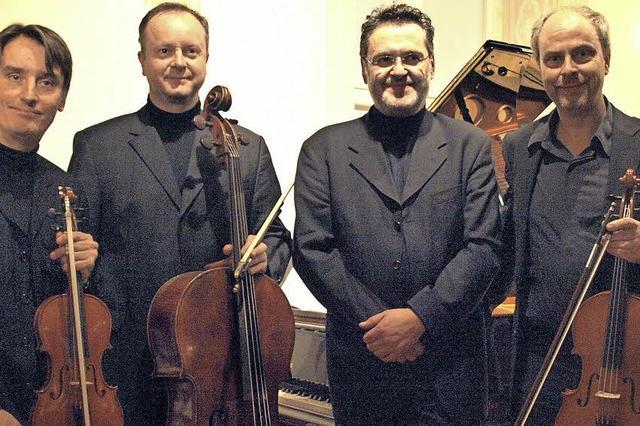 Publikum feiert Mozart Piano Quartet im Schloss