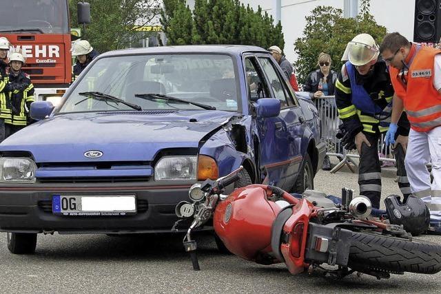 Sieben Motorradfahrer starben