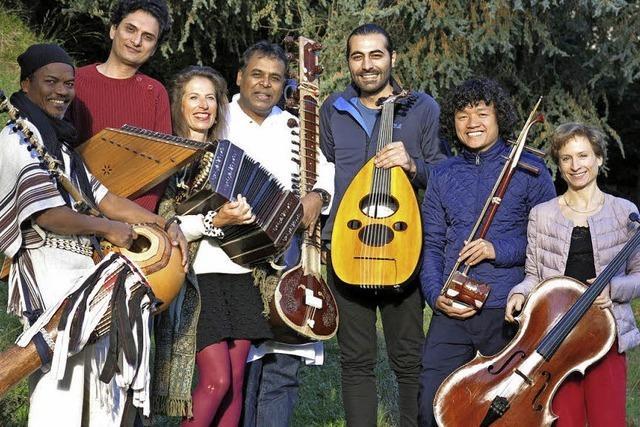 Sieben Musiker mit