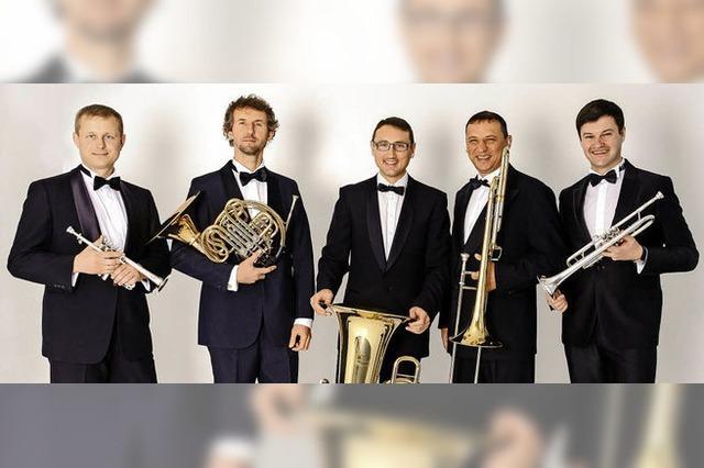 Mit dem Brass Quintett Kiew Academy in Hinterzarten