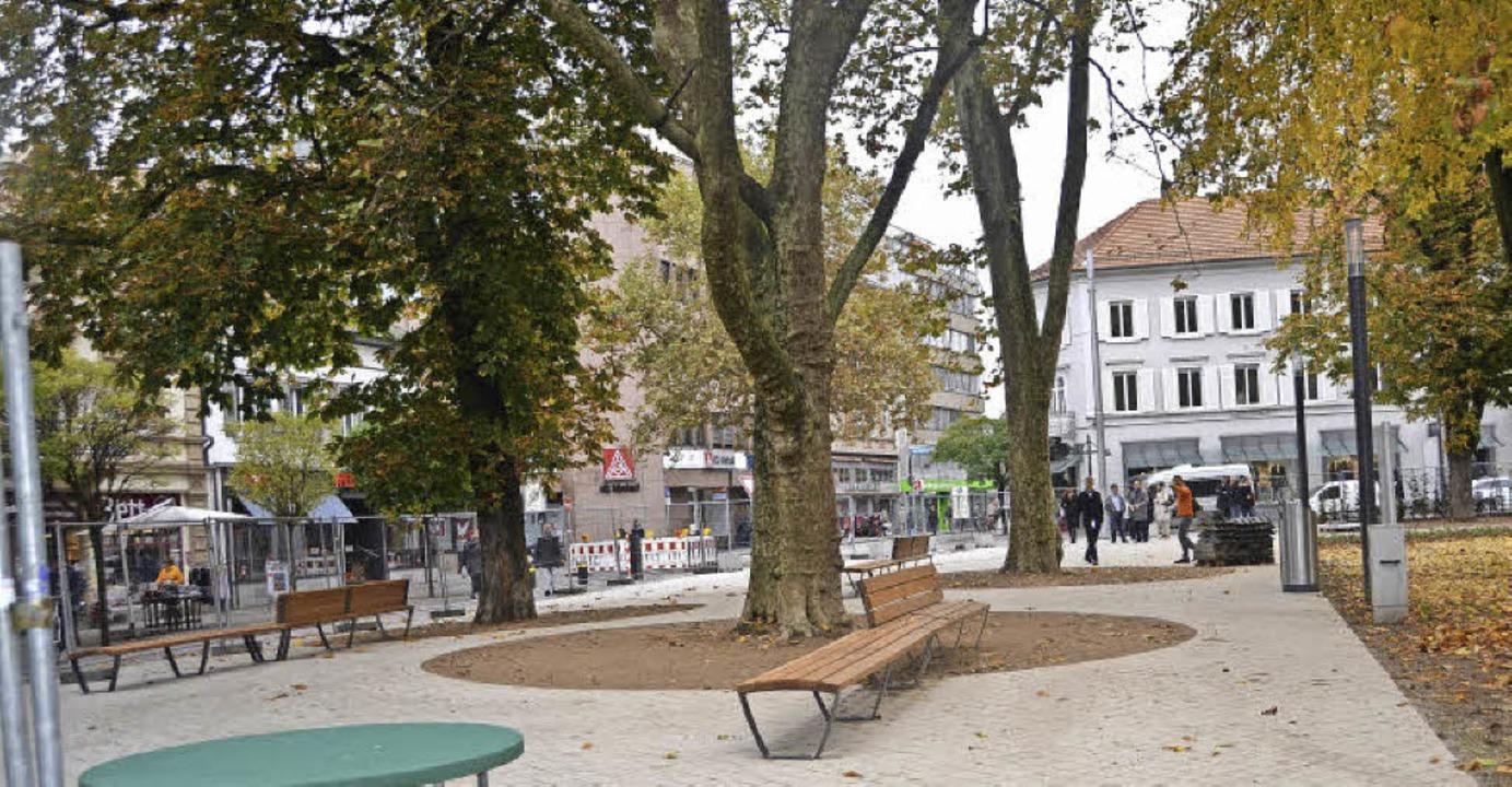 Der Teil längs der Fußgängerzone ist d...ldrand beginnt der ruhige, grüne Teil.  | Foto: Sabine Ehrentreich