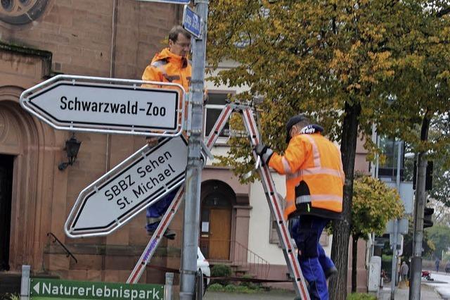 Arbeiten im Schilderwald