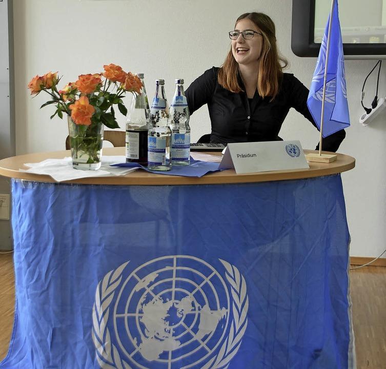 Die diesjährige Generalsekretärin der ...eude an den Beiträgen der Delegierten.    Foto: Christine Buchholz