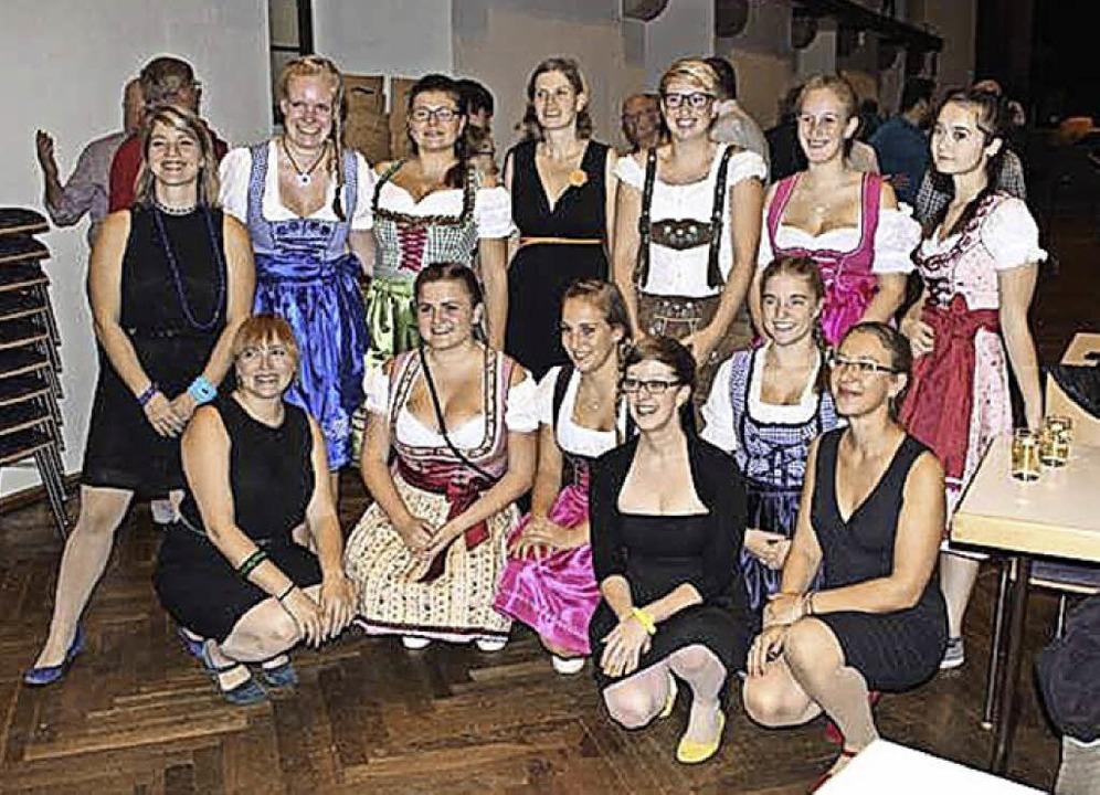 Die Kappler Musikerinnen der Band KaKa...er, der Frauenband Brassessoires auf.   | Foto: Privat