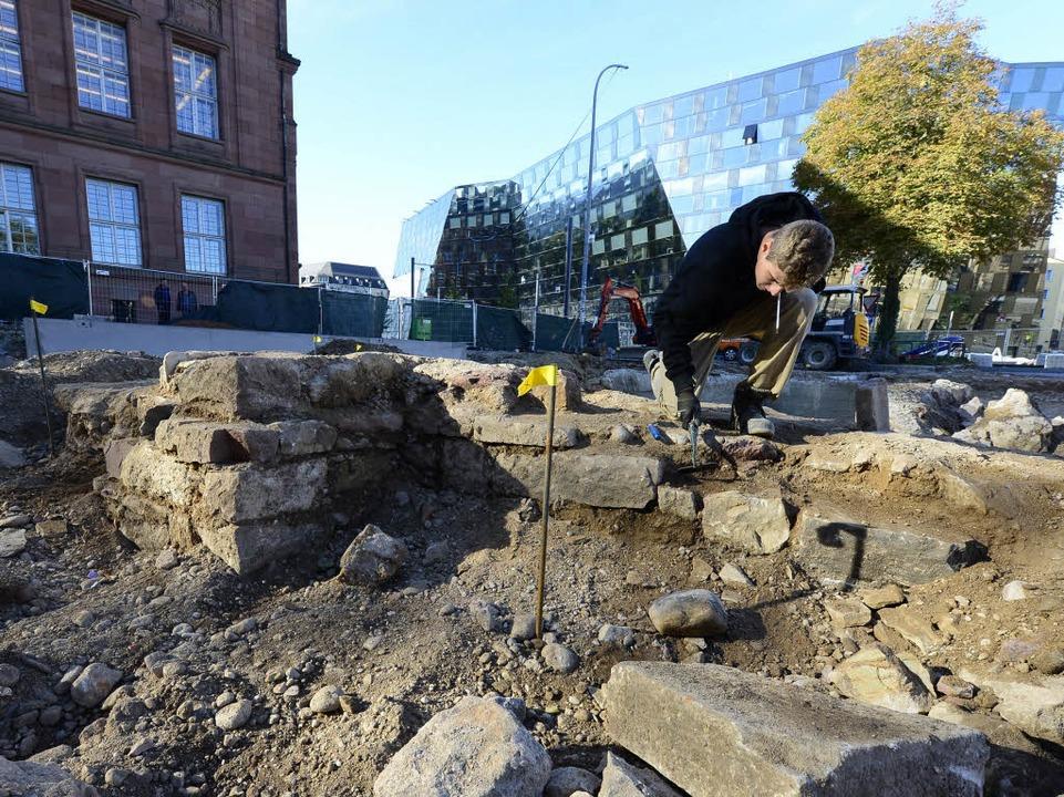 Die Mauerreste der Alten Synagoge  | Foto: Ingo Schneider