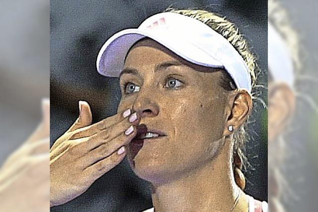 Verschnupfte Kerber im Halbfinale