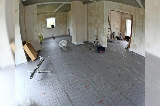 Fotos für das Bautagebuch