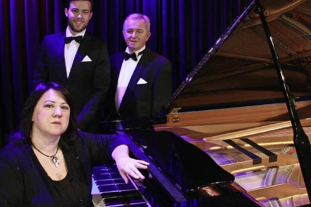 Konrad Debski und Bartosz Nowak mit Maria Brila (Klavier) in Höchenschwand