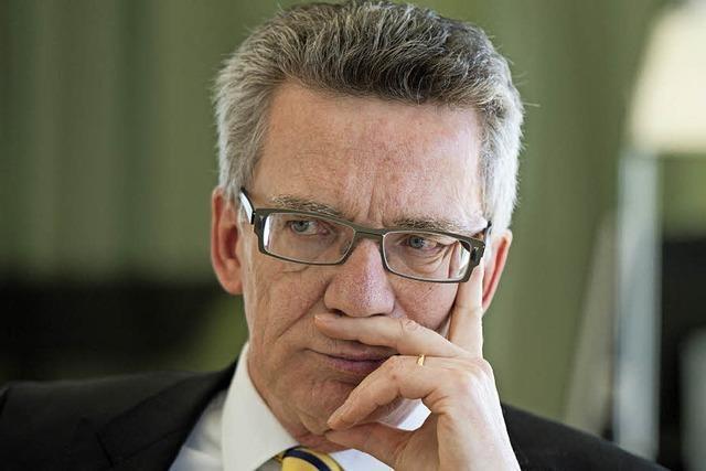 BZ-Interview mit Innenminister Thomas de Maizière