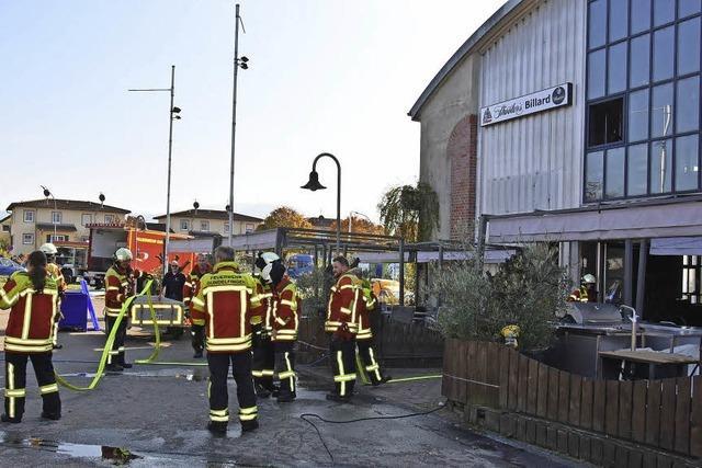 Schwelbrand setzt Billardzentrum lahm