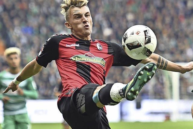 SC Freiburg beim 3:1 gegen Werder Bremen: der erste Auswärtserfolg dieser Saison