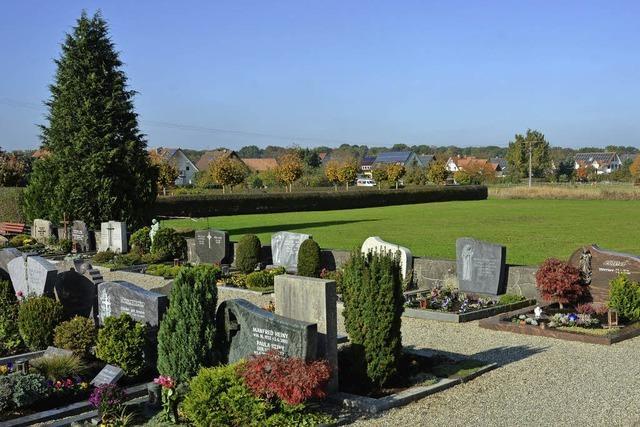 Planung für den Friedhof
