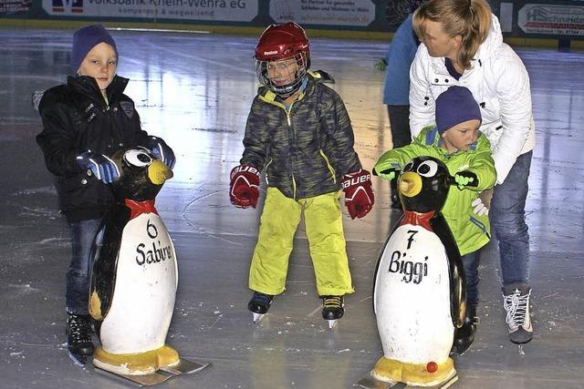 Die Kids zeigen sich schon fit auf dem Eis