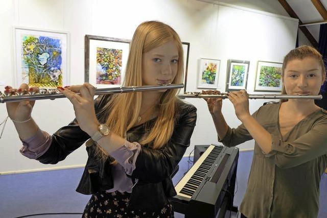 Junge Flötentöne, schönes Violinspiel