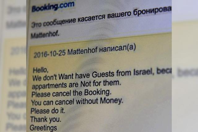 Kein Platz für Gäste aus Israel
