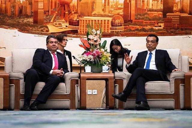 Streit belastet Gabriels Besuch in China